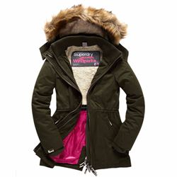 Superdry Women's microfibre tall windparka