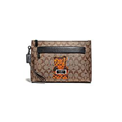Coach men's Carry All Pouch In Signature Vandal Gummy