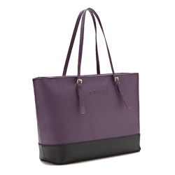 Guess Libby purple and black tote bag