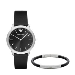Armani men's watch in black by Watch Station International at Wertheim Village