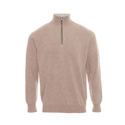 Soft brown zip sweat