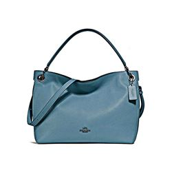 Coach Women's Chambray Polished Pebble Leather Clarkson Hobo