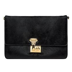 Spazio - D&G - Black leather clutch