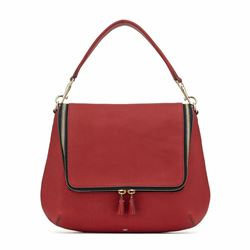 Anya Hindmarch Maxi Zip satchel in Vampire matt
