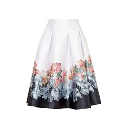 Ted Baker baby-pink Painted posie full pleat skirt from Bicester Village