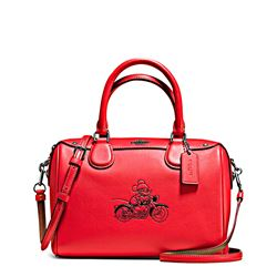 Women's bag 'Mickey Leather Mini Bennett' in bright red by Coach at Ingolstadt Village