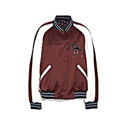 Coach Burgundy/ Multi Reversible Cloud Souvenir Jacket from Bicester Village
