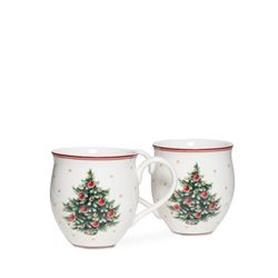 Box of two Christmas mugs
