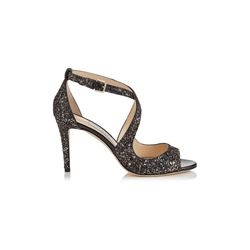 Jimmy Choo Women's bronze Glitter Fabric Sandals