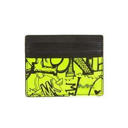 Michael Kors Men's Neon Yellow Tall Card Case