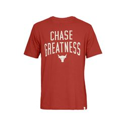 Under Armour Men's Red Project Rock Chase Greatness T-Shirt