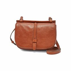 Collette small cross-body whisky satchel