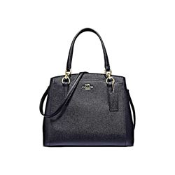 Coach Women's Black Crossgrain Leather Minetta Crossbody