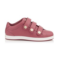 Jimmy Choo NY Vintage Rose Calf Leather Trainers