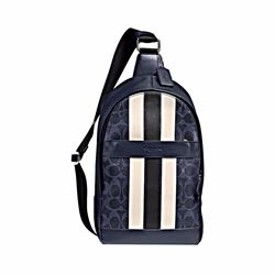 coach leather backpack outlet 226w  Men's Charles backpack in varsity signature
