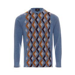 dunhill  Blue argyle jumper from Bicester Village