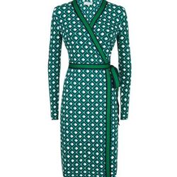 Jasmine wrap dress green