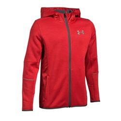 Boys jacket in red by Under Armour at Wertheim Village