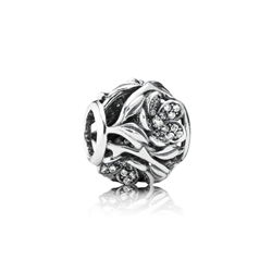 Mystic floral charm in silver Pandora