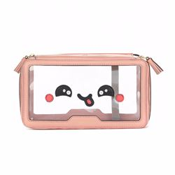 Anya Hindmarch Inflight Kawaii Yum in Clear/Powder Pink Plastic