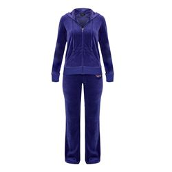 Royal Monogram Velour Pant - Colbalt